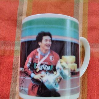 Jリーグファン❇懐かしい秋田豊オリジナルマグカップ!