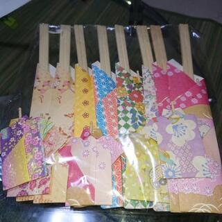 飾り袋のお箸と爪楊枝セット