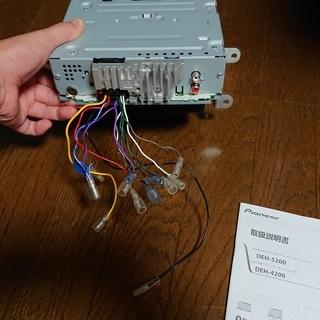 カロッツェリア カーオーディオ DEH-4200 1DIN USB・CD再生対応(おまけつき) - 車のパーツ