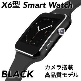 お話中【新品同様】スマートウォッチ X6型★黒Apple系デザイン