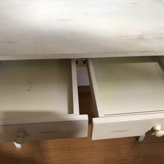 値下げしました‼︎ 民藝調学習机、引出し2個付き