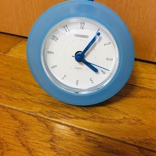 twinbird 置き時計 アラーム付き ブルー