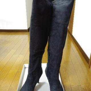 【超美品】9cmヒール スエード ロングブーツ