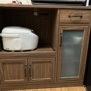 ウッド調 食器棚
