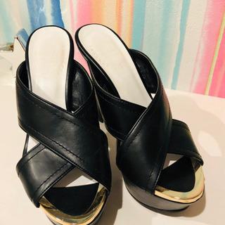 7cmヒール sサイズ 靴の画像