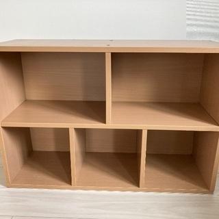 カラーボックス 2列 ナチュラル - 家具