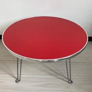 折りたたみ式 丸テーブル ローテーブルの画像