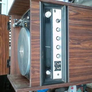古い レコードプレーヤー骨董?コレクション お店の雰囲気作…