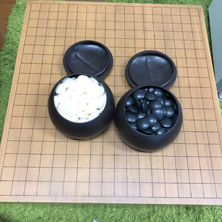 囲碁盤 碁石セット(本蛤碁石) 木製