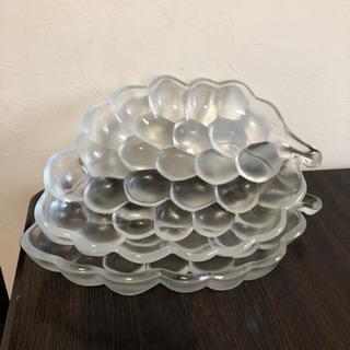 【値下げ】ブドウ形 ガラス鉢2枚