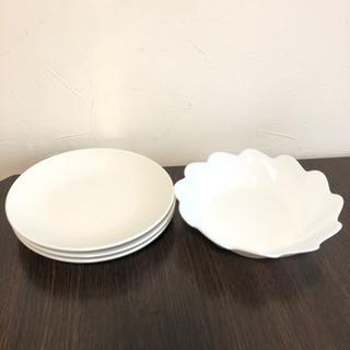 【値下げ】シンプル皿 白4個