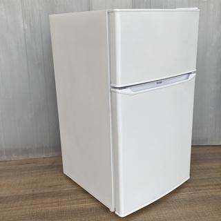 【稼働品】Haier/ハイアール 2ドア冷凍冷蔵庫(85L/右開...