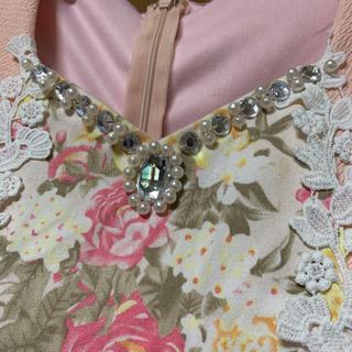 花柄ミニドレス