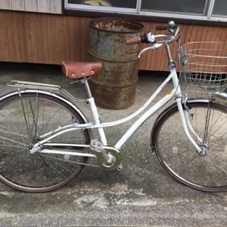 自転車 ロココ 27インチ 白 ブリジストン