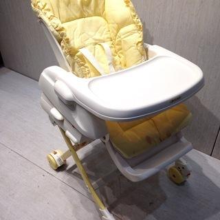 ★2059★COMBI コンビ ハイローチェア 黄色 赤ちゃん ...