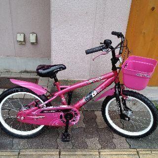 AVIGO Staret 18吋キッズバイク(女の子向け)補助輪...