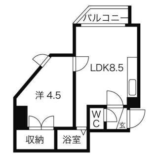 🦢【白石区☆1DK】東西線「菊水」まで徒歩2分(^o^)コンビニ...