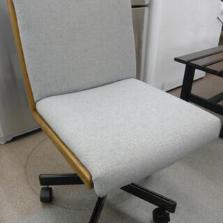浜本工芸 デスクチェア ブラウン×グレー系 回転イス 学習椅子 ...