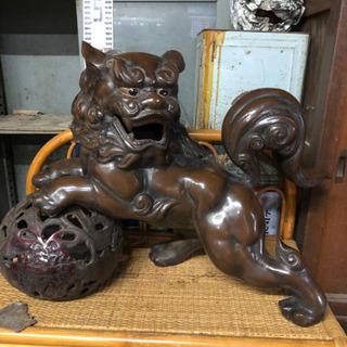 特大❗️鋳物獅子置物