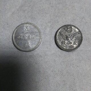 【昭和の五銭・2枚】昔のお金・古銭