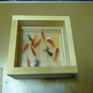 中古品 アクリル樹脂の金魚 1個