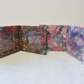 タイコットンの写真立て×2個 新品 花柄
