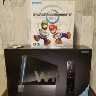 (こどもの日に)Wii本体とマリオカートハンドル