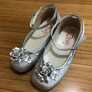 フォーマル靴 20.0センチ シルバーラメ