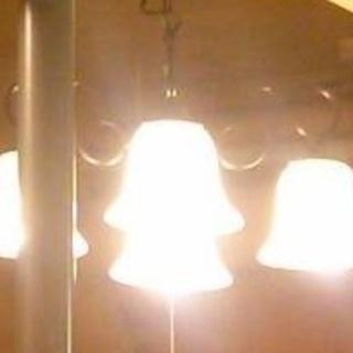 かわいいカフェ風インテリア照明(4灯)中古品