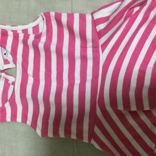 シャツ 80 ピンク ボーダー ベビーギャップ