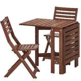 IKEA エップラロー ガーデンテーブルセット