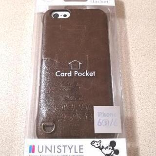 新品 ミッキー iPhoneケース iPhone6s/6 レザーケース