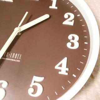 新品同様 壁掛け時計 ジャンク 液漏れ BRUNO 時計 ブラウ...