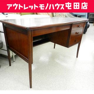 マルニ デスク 引出し付き【maruni】カギなし ブラウン系 ...