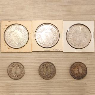 日本 古銭 一圓銀貨 三十七年 三十八年 四十五年 五十銭 銀貨...