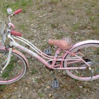 値下げ中古 22インチ 女の子用自転車お譲り致します