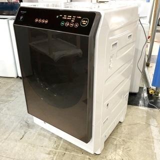 札幌近郊送料無料◇2018年製 11kg ドラム式洗濯機 シャープ(SHARP) ES-G110-TLの画像