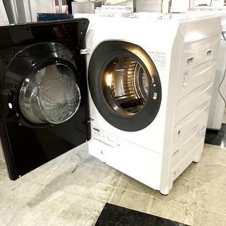 札幌近郊送料無料◇2018年製 11kg ドラム式洗濯機 シャープ(SHARP) ES-G110-TL - 空知郡