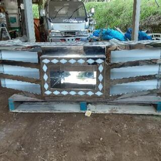 4トン標準用ステンレス舟形バンパー❕