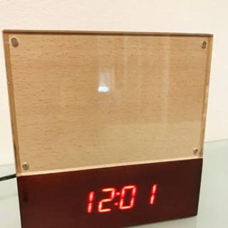フォトフレーム 型目覚まし時計