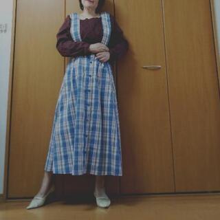 新品 レトロガール サス付ロングスカート