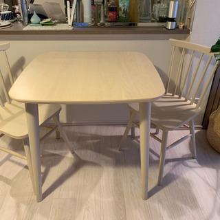 ダイニングテーブルセット(テーブル+チェア2脚) ※組合せ二択