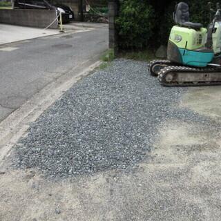 駐車場の入り口のコンクリート工事、福岡、格安、1日作業