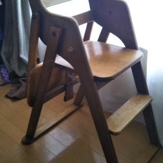 木製折り畳み式ベビーチェア【中古】
