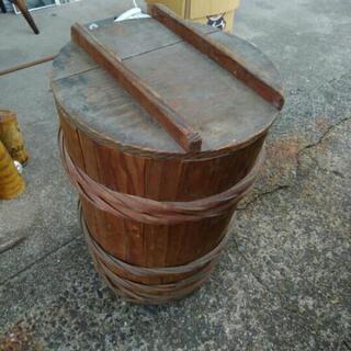 木製 樽 傘立て 古民具