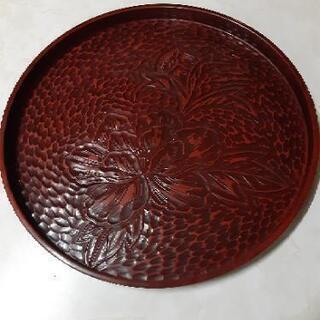 鎌倉彫り風 丸盆