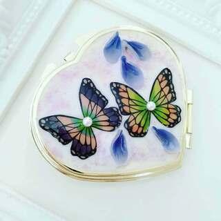 【胡蝶と藤の花のコンパクトミラー作り】1000円~1500…