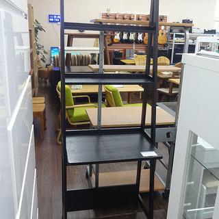 札幌 引き取り 木製デスク シェルフ フリーラック 黒 飾り棚 ...