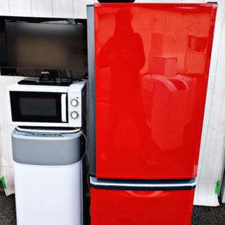 🌈期間限定✨送料設置無料✨企画🌈テレビも付いてこの価格はヤバイ❗️破格の家電4️⃣点セット(洗濯機&冷蔵庫&電子レンジ&テレビ) - 売ります・あげます