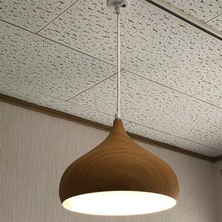 天井から下げるタイプの照明2つ